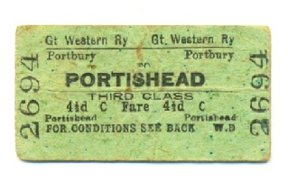 Ticket Portbury to Portishead